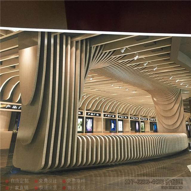 定做工程艺术吊顶波浪铝方通 异形铝方通弧形铝方通吊顶厂家