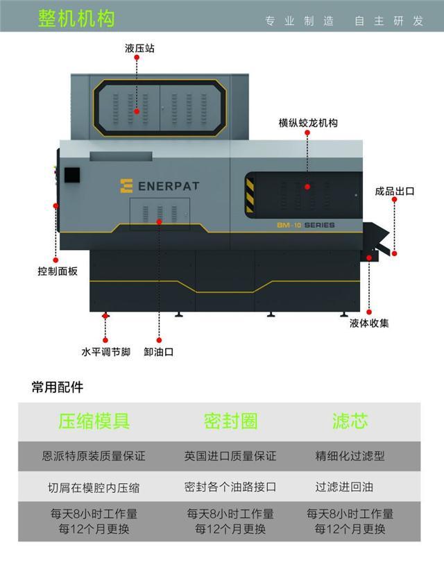 齿轮加工厂用不锈钢屑压块机全自动