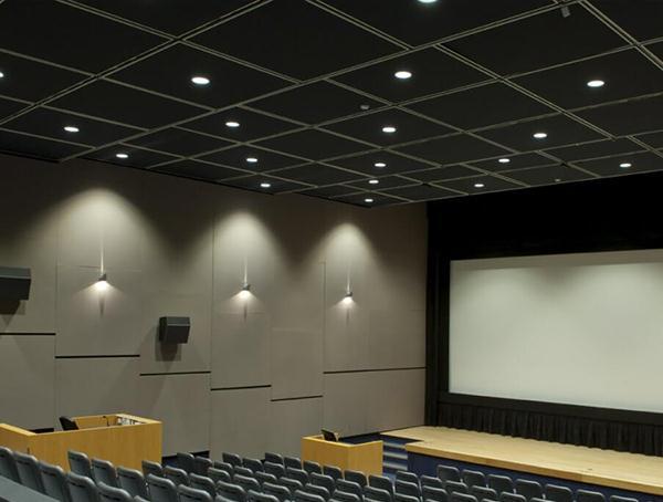 吸声吊顶玻纤板  天花岩棉吸声板  降噪吊顶板  玻纤吸声板