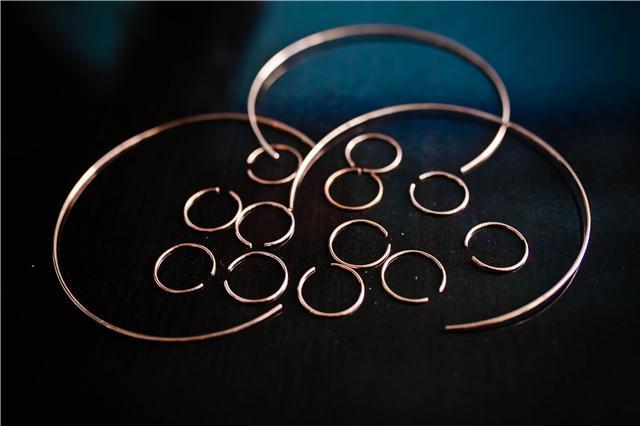 汽车配件焊业炉中焊接用无氧铜焊环 紫铜焊环