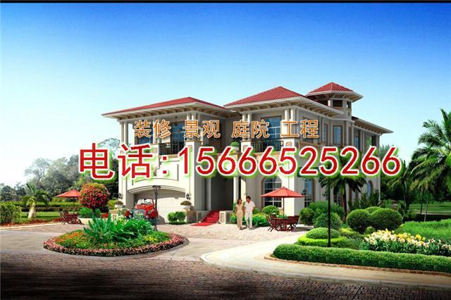 青岛市南区3层别墅装修设计,私家小院子
