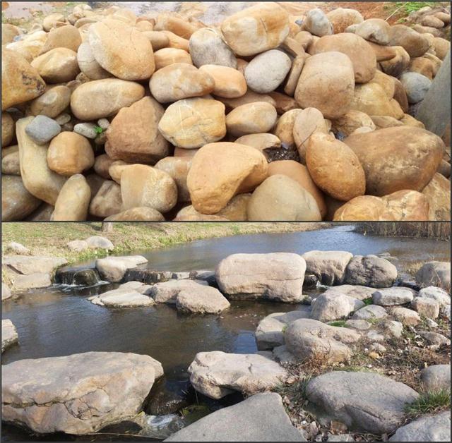 武汉假山石销售公司 鹅卵石千层石吸水石现货1000吨