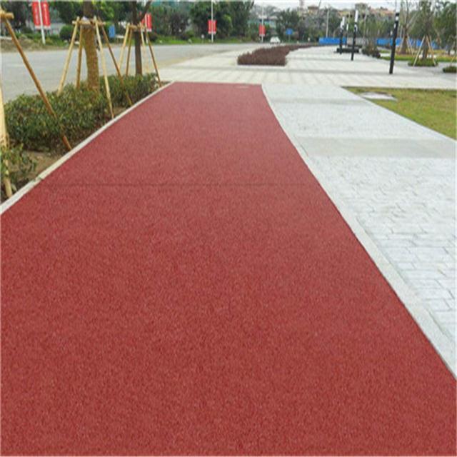 泸州园林艺术透水地坪工程 高承载高透水生态地坪材料厂家