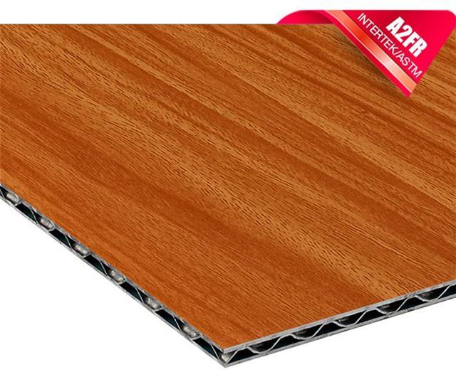 铝锥芯航空板,木纹铝锥芯板,防火三维复合铝板