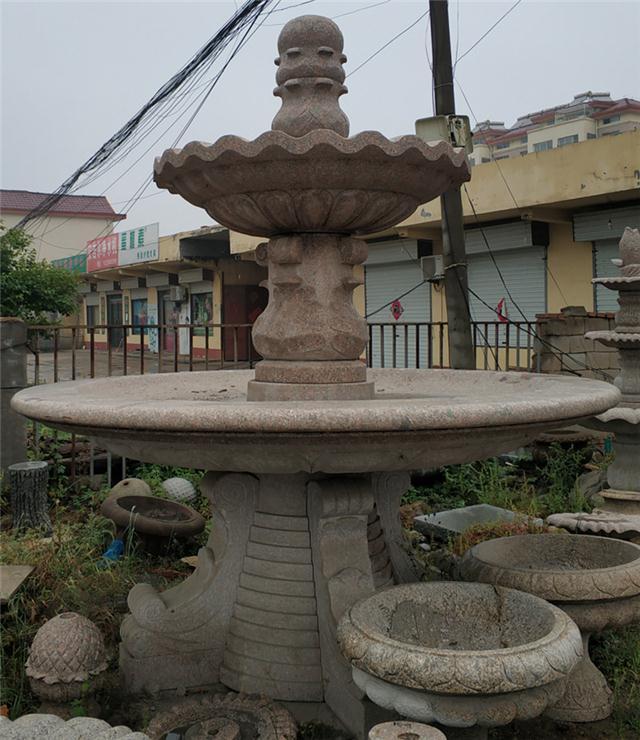 加工定制厂家直销黄锈石水钵黄金麻水钵喷泉