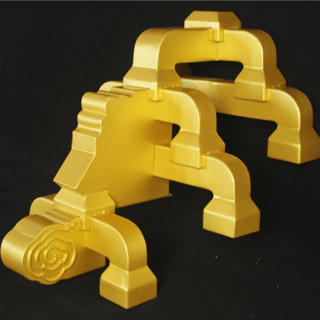 厂家定做铝合金斗拱-古铜色斗拱-仿古金属飞檐斗拱