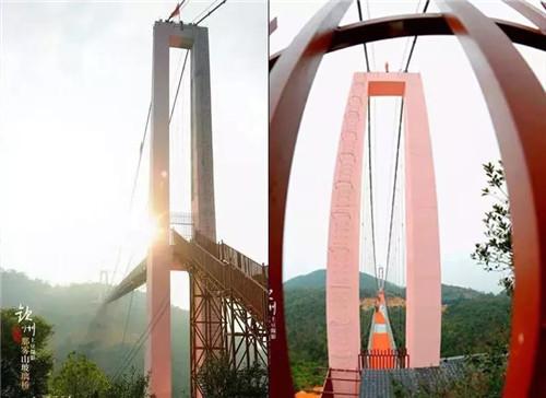 【美涂士工程案例】助力广西雾山玻璃吊桥腾云驾雾!