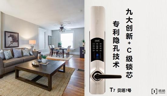 杨格指纹锁隐孔系列:防小偷专用智能锁