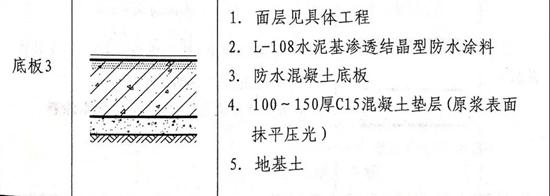 LKQ自愈合防水系统:混凝土底板的三种做法