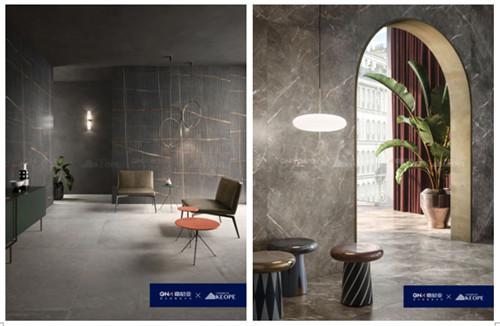 嘉尼亚携手意大利高端瓷砖品牌KEOPE发布岩板新品,打造轻奢生活