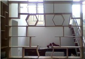 木工做的隔断花架图片_怎么做木工隔断墙,带门