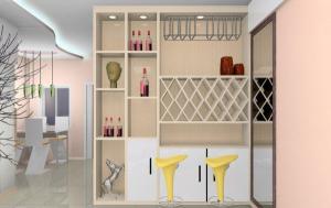 隔断酒柜装修设计图片 客厅与餐厅酒柜隔断