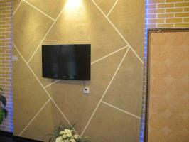 蓝色电视背景墙效果图 家装电视墙与墙壁颜色选择