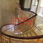 铜艺楼梯扶手 铜楼梯扶手 铜护栏全铜酒店楼梯扶手 铝艺楼