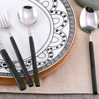 西餐餐具 创意304不锈钢刀叉 简约叉子勺子餐勺牛排刀叉