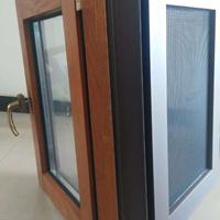 高端定制贝科利尔110系列铝包木内开外带金钢网系统门窗