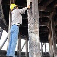 混凝土放腐蚀防冻融保护,烟囱化工厂混凝土修补保护A8-5