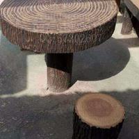 供应仿木桩 仿树木护栏 仿木护栏 仿木桌椅