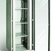通用拆装式钢化玻璃门网络机柜型号C6837经济柜由巨金设计生产