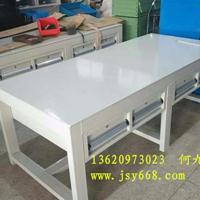 铁桌、铁方通焊接工作桌、学校学生铁网实训桌生产厂家