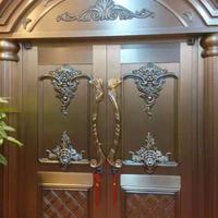 顺祥福豪华别墅大门非标门定做双开门庭院门客厅门真铜门