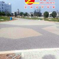 衢州艾森药业广场透水胶粘石铺装,灰色胶粘石铺装