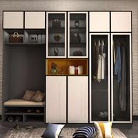 入户柜定制-布拉格灰 高光白|现代衣柜定制