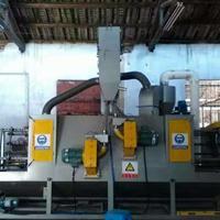 五金亚克力输送式喷砂机 红海自动喷砂机制造商