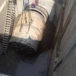 顶管基坑涌水堵漏顶管洞口涌水堵漏顶管接收井漏水防水补漏找鸿飞