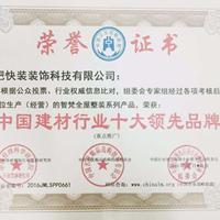 中国建材行业十大领先品牌