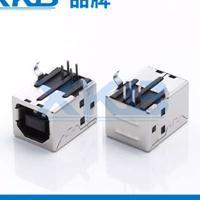 供应香港星坤短体usb2.0连接器黑胶插件USB母座 XKB品牌