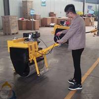 手扶式压路机 小型单钢轮压路机干活更灵活