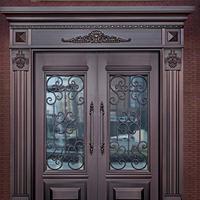 厂家直销铜门 入户对开铜门