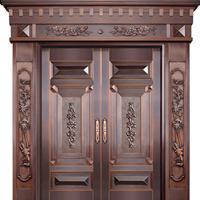 供应铜门 双开紫铜门 入户对开门
