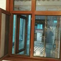 贝科利尔128系列铝包木外开内带金钢网高端定制门窗