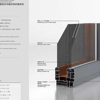 南昌十大品牌铝合金门窗 凤铝135隔热外开窗内带纱窗系列