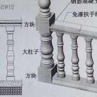 花瓶栏杆、宝瓶栏杆,批量生产供应,造型优美、量大从优