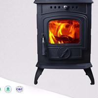 HiFlame HF332室内独立式经典铸铁真火壁炉