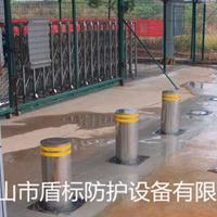 公园液压手动升降柱,304不锈钢阻车路桩,升降路障