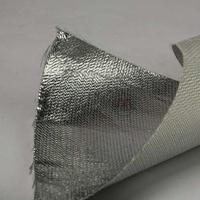 玻璃纤维铝箔布 玻纤铝箔防火布 防护服铝箔布批发