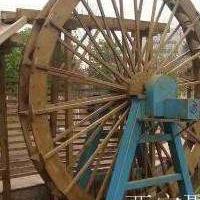 西安仿古木水车、户外防腐木水车、实木水车定制价格