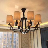 简约全铜吊灯 典雅新中式灯具 会客厅新中式吊灯批发
