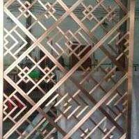 金属不锈钢屏风门间断间隔