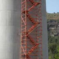 亿诚秒杀桥梁建筑安全爬梯地铁基坑隧道施工箱式梯笼官方品质保证