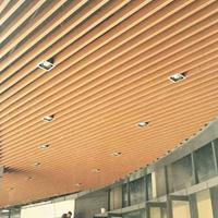 仿木纹铝方通 异形铝方通吊顶 热转印铝方管厂家