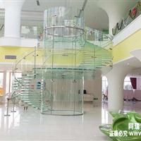 苹果店同款全玻璃楼梯 厂家定制