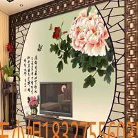 木塑板背景墙 5d彩雕集成墙板打印机3d背景墙uv平板打