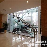 悬浮型全玻璃楼梯 厂家设计制作安装一站式