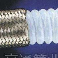 内壁平滑的四氟输送软管(外套不锈钢编织网铁氟龙平滑软管)
