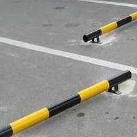 停车位档杆 橡胶车档 挡车器 钢管倒车杆 铁挡车器